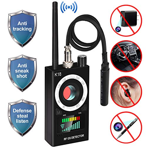 Anti Spy RF Detector, uniwood Wireless Bug Detector Signal, Hidden Camera Detectors - GSM Listening Device Finder Radar Radio Scanner Wireless Signal Alarm