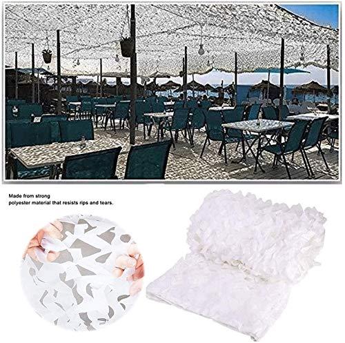 Red De Camuflaje 3x5m Rejilla De Malla Reforzado Camouflage Net De Jardín Al Aire Libre Navegación Sombra Interior Camuflaje Red De Sombra Cenador De Toldo Blanco 2x3m 6x8m ( Size : 3*5m (10*16ft) )