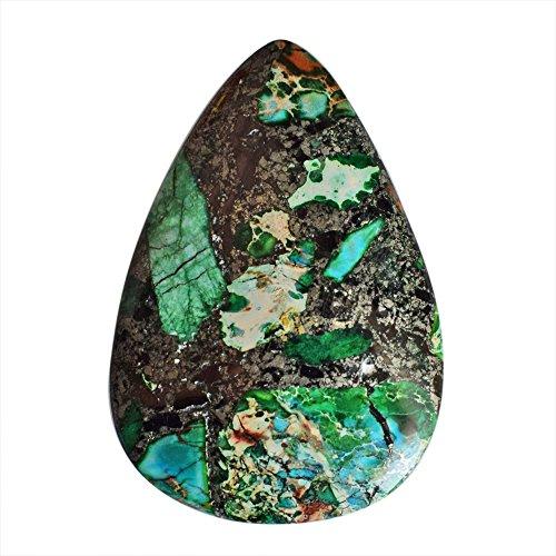 Cabujón de azurita de buena calidad, tamaño 44 x 31 x 6 mm, piedra preciosa para bisutería, proveedores de azurita AG-9607