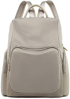North face Backpack Backpack Female Oxford Cloth Waterproof Backpack Korean Version of The Simple Fashion Wild Casual Anti-Theft Backpack The North face Backpack (Color : Apricot)