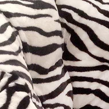Urban Shop Adult Faux Fur Bean Bag Chair, Zebra