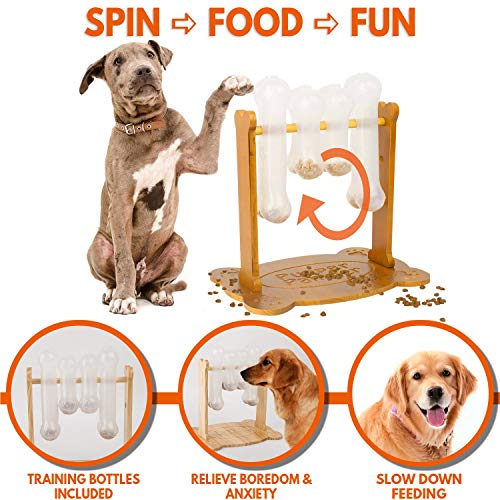 Interactive Dog Food Puzzle Toy - Treat Dispensing Dogs Slow Feeder -...