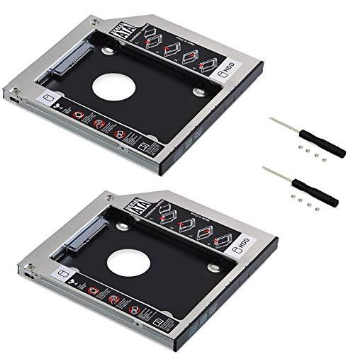 Neuftech 2X Soporte Adaptador óptica bahías de Disco Duro Caddy SATA 2nd 2.5