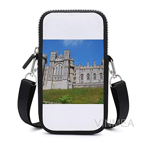 VinMea Crossbody Cell Phone Bag For Women Arundel Castle Key Passport Handbag With Adjustable Shoulder Strap