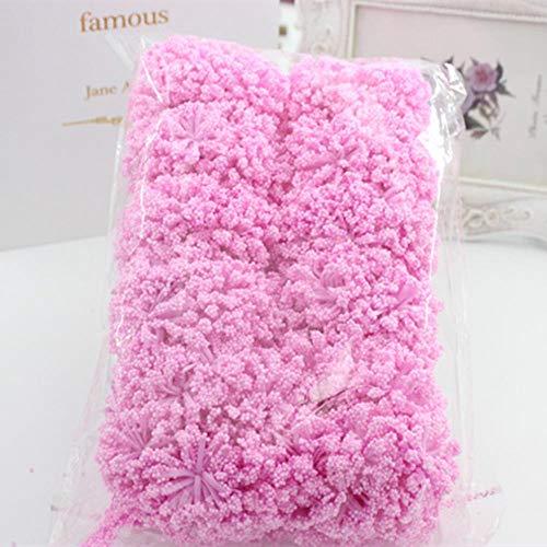 144 stuks/synthetisch schuim over de hele hemel ster prei bloemboeket bruiloft decoratie diy krans krans collage kunstbloemen, diep roze