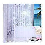 Percetey Duschvorhang, Wasserdicht, Halb-transparent, Anti Schimmel, Kopfstein-Muster Eva Umweltfre&lich Waschbar, Bad Vorhang