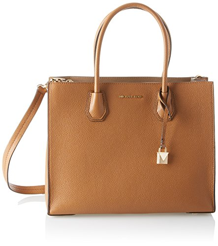 Michael Kors Mercer, Bolso totes para Mujer, Marrón (Acorn) 12.7x21.6x23.2 centimeters (W...