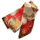 [ジュエルボックス] JewelVOX スカーフ ネックレス 76種類デザイン サテン生地 スカーフ 【スカーフ柄2】 B
