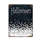Ahdyr Retro Metall Blechschild Wand Dekor Kunst Halloween