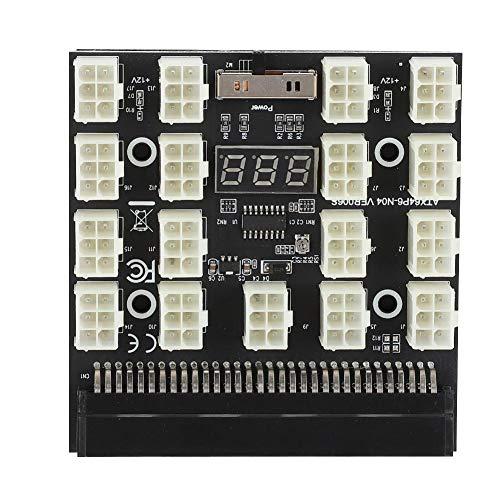 Kafuty PCI E 17x 6 polige Adapterplatine 12 V Miner Grafikkarte Netzteiladapter Konvertermodul mit LED Anzeige