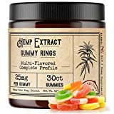 Hemp Gummies for Pain, Anxiety, and Sleep (25mg Each, 30 Count, 750mg Total) - High Potency, CO2 Extracted Hemp Oil - R+R Medicinals