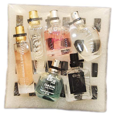 Schnäppchenladen24 White box trend düfte: set x 6 sechs parfüm für damenherren 15 ml miniaturen geschenk set