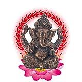 Resina Ganesh hidu Elefante Estatua Elefante Buda Figura Dios del éxito Ornamento Decorativo para Coche de Oficina en casa,e
