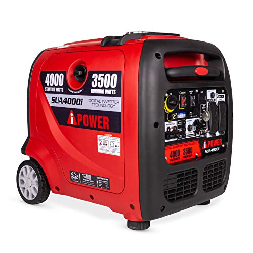A-iPower SUA4000i 4000 Watt Portable Inverter Generator Quiet Operation, RV Ready