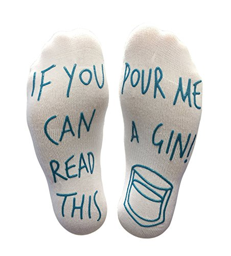'If You Can Read This Pour Me A Gin' Funny Socks -...