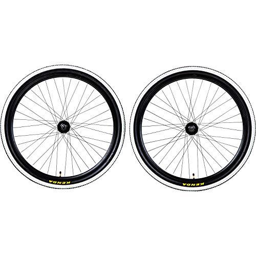 Galano Laufradsatz 650B 27,5Zoll Mountainbike Fahrrad MTB Aluminium Felgen Kenda (vorne + hinten)