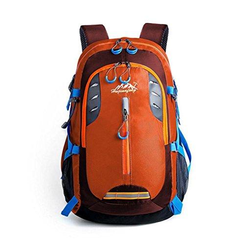 20-35L Alpinisme extérieur Sac à dos multi-fonction Sac à bandoulière étanche de grande capacité Vent Collège , orange