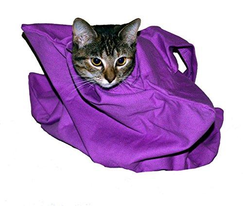 Cat-in-The-Bag Grand sac de transport confortable pour chat - Lavande - Sac de transport et de toilettage pour les visites vétérinaires, le bain, la coupe des ongles et les voyages en voiture