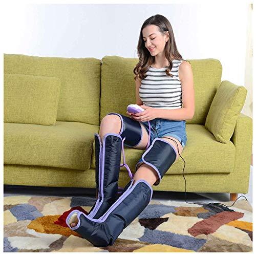Beinmassagegerät Für Durchblutung-Luftkompression Sequentielle Bootmaschine Für Heimgebrauch-Massage Beine,Wade,Fuß,Oberschenkel,Knie-Bei Unruhigem Bein,Muskelschmerzen,Lymphödem, Ödem-9 Intensitäten
