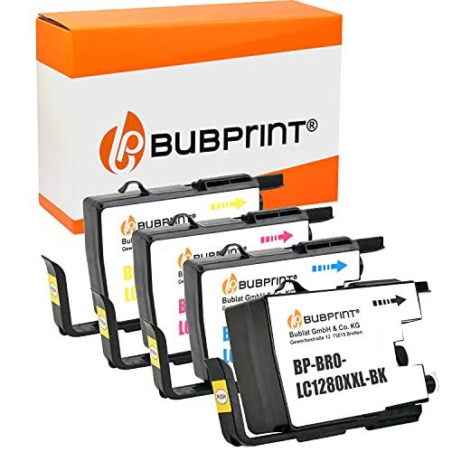 Bubprint Kompatibel Druckerpatronen als Ersatz für Brother LC-1280 XXL LC1280XXL LC 1280 XXL für MFC-J5910DW MFC-J6510DW MFC-J6710DW MFC-J6910DW BK/C/M/Y 4er-Pack