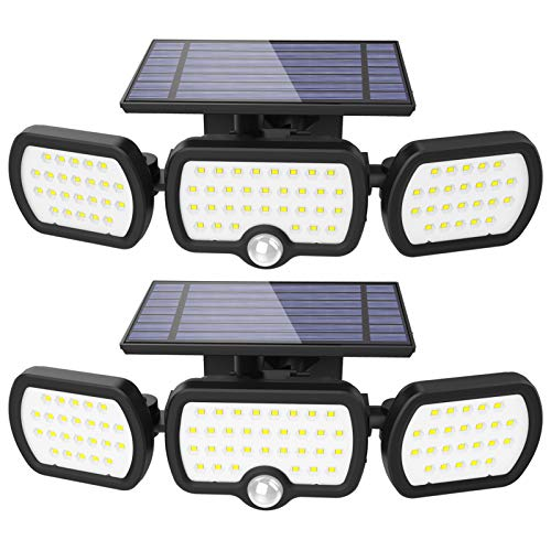 Luz Solar Exterior, JESLED 3 modos de iluminación Luz solar