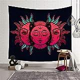 CNYG Moon Sun Tarot Series Tapiz Hippie Decoración para el hogar...