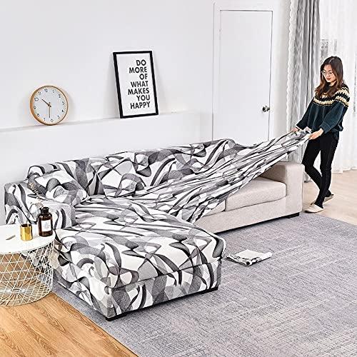 WXQY Funda de sofá elástica con Estampado geométrico para Sala de Estar, Funda de sofá de Esquina de Spandex, Funda de protección para Muebles, Funda de sofá A5 1 Plaza