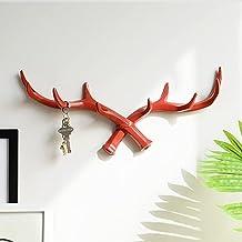 1 stks Hars Haak hanger Muur Voor Sleutels Houder Hoed Jas Thuis muur decoratieve kleerhanger Haken handdoek, rood