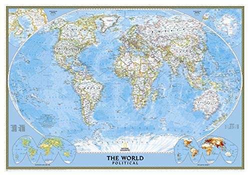 World Classic Flat: Wall Maps World: Political (National Geographic Reference Map)