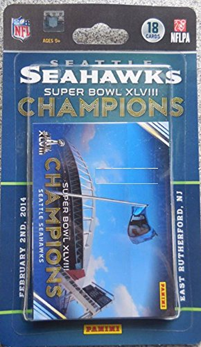 Panini Seattle Seahawks Super Bowl XLVIII Champions 18-Card Trading Card Set