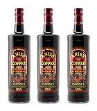 3x 1,0l Kaffee Ouzo Likör 21% | Das Original von Rhodos | Coffee Anise Aigaion | + 1 x 20ml Olivenöl'ElaioGi' aus Griechenland