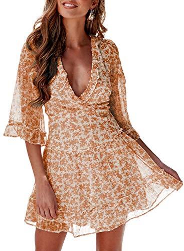 Asvivid Mujer Casual Vestidos Vestido Formal Volante Falda Apretada de Las señoras...