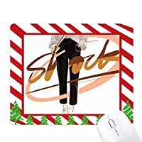 ショックの女の子フィギュアのデザインイラストアート ゴムクリスマスキャンディマウスパッド