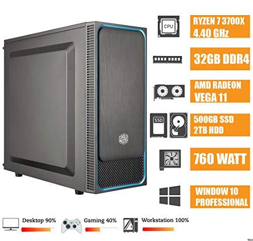 - CEO Epsilon V9 - Ryzen 7 3700X Octa Core 4.40GHz 32MB | 32GB RAM DDR4 | 500GB SSD |2TB HDD |USB 3.0 | Geforce GT720 2GB |850W | WI-FI | DVD | HDMI/VGA | Win 10 Pro