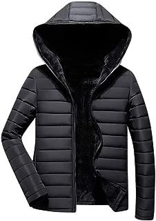 Men Casual Coat Beautyfine Winter Solid Warm Zipper Long Sleeve Hooded Jacket Outwear Tops