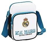 Real Madrid 611754672 - Bandolera 16 x 22 x 6 cm, Blanco