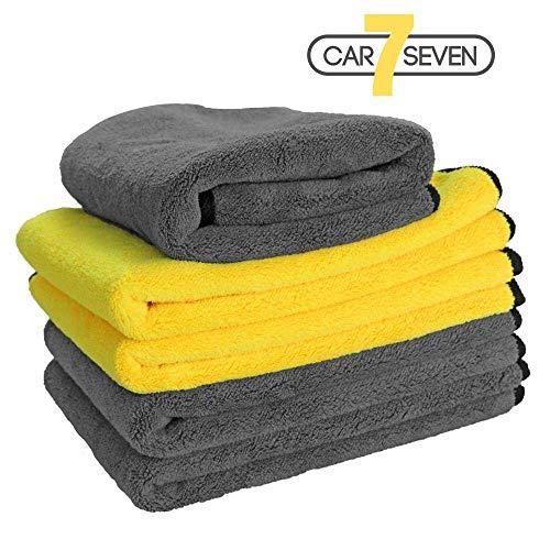 car7seven Premium Mikrofasertuch, 800GSM, 45x40cm, Der Lappenmeister, Poliertuch, Auto Reinigungstuch außen & innen, Detailing Polish Finishtuch, Trockentuch, Putzlappen Microfaser