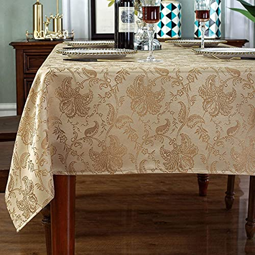 SASTYBALE Rectangle Tablecloth Polyester Fabric Table Cloth Spill Proof Dust-Proof Wrinkle Resistant Table Cover for Kitchen Dining Tabletop Decoration(Rectangle/Oblong, 60