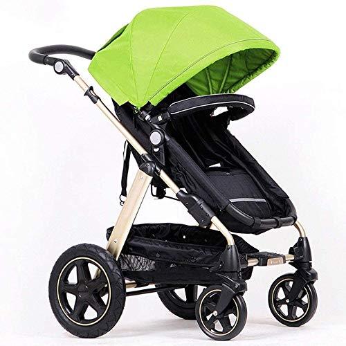 Landaus High View Poussette bébé, Poussette Buggy Compact, Portable Pram Transport Anti-Choc en Aluminium Poussette Fournitures pour bébé ( Color : Green )