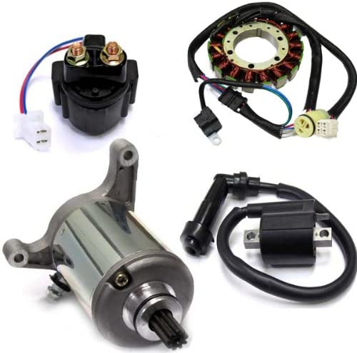 Caltric Stator Starter 100% quality warranty Solenoid Ignition Max 58% OFF Coil Compatible With Wa