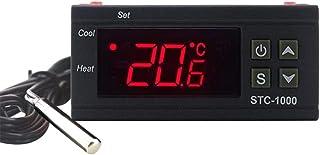 KETOTEK Digital Controladores de Temperatura Termómetros Fermentación 24V LED para Reptiles Planta de semillero Germinación Fabricación de Cerveza Refrigeración calefacción (24V)