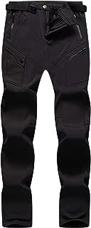 Singbring Women's Outdoor Fleece Lined Windproof Hiking Pants Waterproof Ski Pants