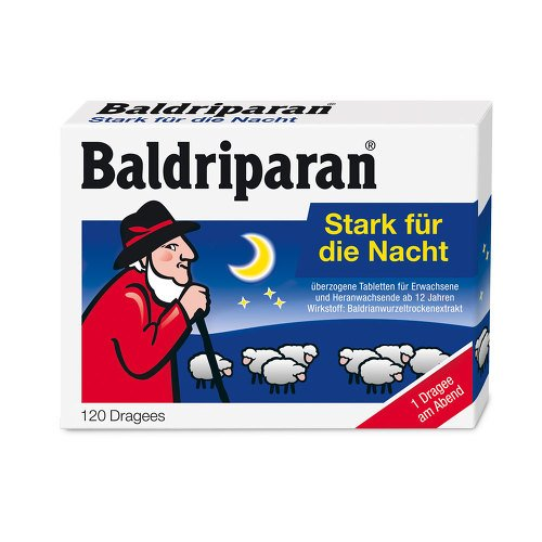 BALDRIPARAN Stark für die Nacht überzogene Tab., 120 St