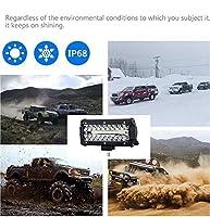 DishyKooker 車 LED ヘッドライト 7インチ 120w 高輝度 防水 作業灯 駆動灯 スポットフラッドビーム トラック オフロード UTV/ATV カーアクセサリー 車用