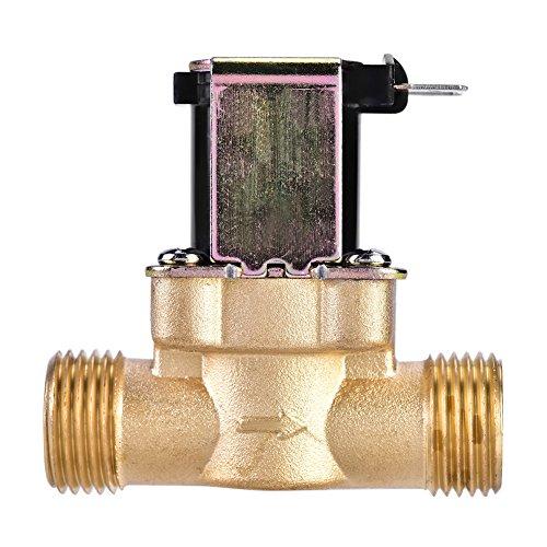 Válvula Magnética De Solenoide Eléctrico De Latón De 1/2 Pulgadas Ca 220 V N/C Normalmente Cerrado Válvula De Flujo De Entrada De Agua...