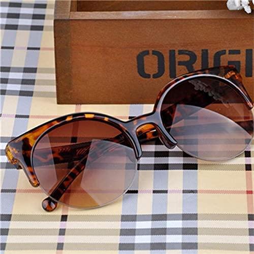 Gafas de Sol Diseñador Retro De Moda Gafas De Círculo Súper Redondas Ojo De Gato Gafas De Sol para Mujer Gafas Gafas De Leopardo