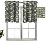 Hiiiman Panel de cortina de bloqueo UV, ondas verticales con rayas y efecto de puntos ornamentales, color pastel, simple, juego de 2, 137 x 91 cm para habitación de niños