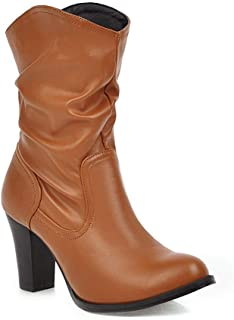 BalaMasa Womens ABS13881 Leather Boots