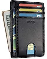 Qbool Front Pocket Wallet-Minimalist Slim Leather Card Case Wallets for Men with RFID Blocking/Lightweight Design