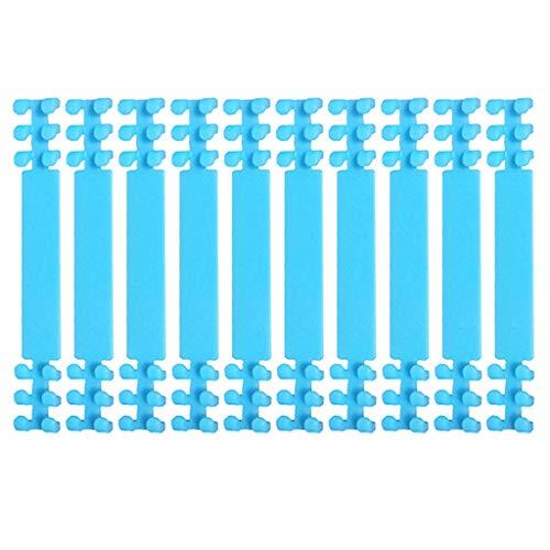 10 Stück Maskenbandverlängerung Masken Ohrbügel Haken, Anti-Straff-Maskenhalter, Haken, Ohrriemen, Zubehör, Ohrgriffe, Verlängerung, Maske, Schnalle, Ohrenschmerzen (Blau)